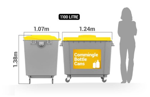 Commingled Recycling 1100 litre