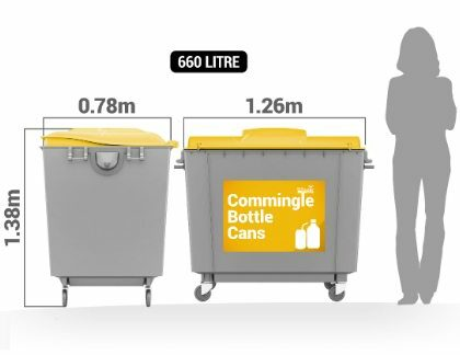 Commingled Recycling 660 litre bin service