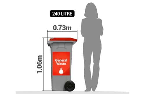 General waste garbage bin