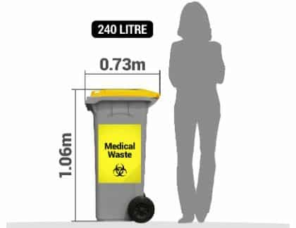 Medical waste 240 litre bin service
