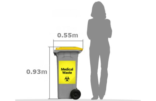 Medical waste bin 120 litre service