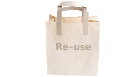 Reduce trash - reusable bags