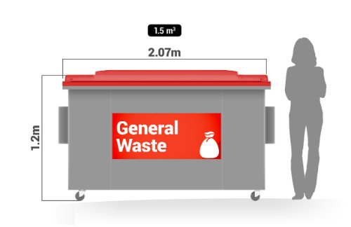 commercial waste disposal company offer - general waste bin service